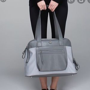 Lululemon Sweat and Go Gym Bag Silver Fox/Slate